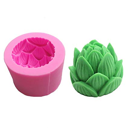 3D Lotus flower silicone mould, 5.5cm