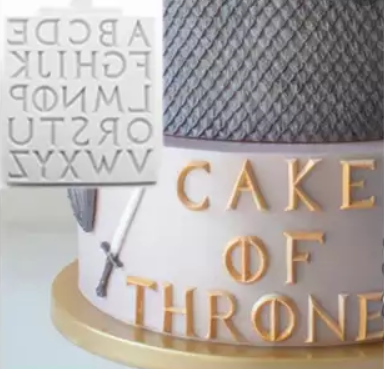 Game of Thrones Iron Alphabet Silicone mould, size of letter A 2.6x2.5cm