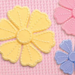 Cross Stitch material flowers silicone mould, 5.4x5.7cm, 4x4.3cm, 3.1x3.4cm