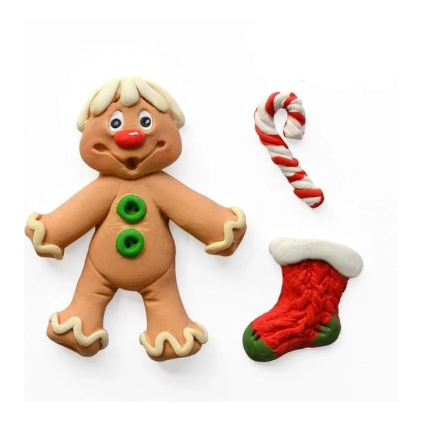 Christmas Gingerbread man Silicone fondant mould, gingerbread man 6.3x5cm