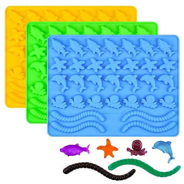 Gummy Under the Sea Animals silicone mould, Dolphin 3x2.9cm, 0.6cm deep