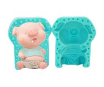 3D Pig silicone mould