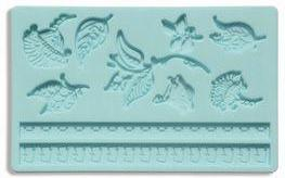 Flower sugar paste silicone mould. A