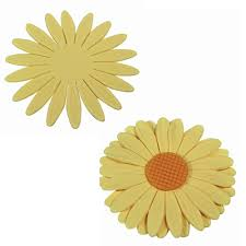 Sunflower plastic cutter set, 9cm, 6cm, 4.5cm