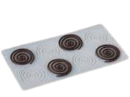 Chocolate Transfer swirl Silicone mould