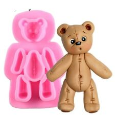 Teddy Bear Silicone fondant mould. 9x5cm