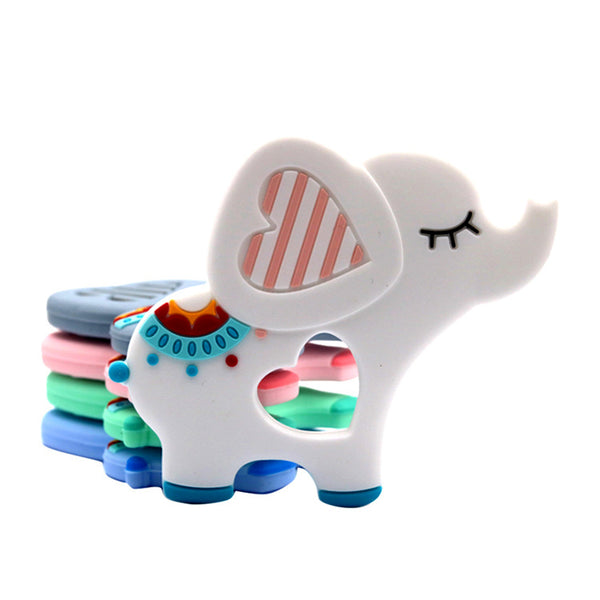 Silicone teething ring, Elephant White