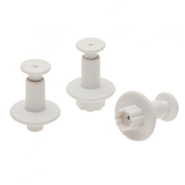 Fondant small tiny Round Flower plunger Cutter 3 piece