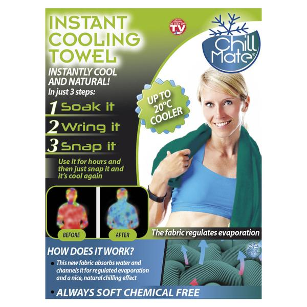 Chill Mate Instant Cooling Towel, 83x25cm