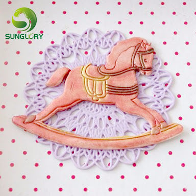 Dolphin and rocking horse embossing cutter