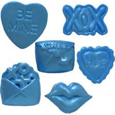 Valentine heart lips silicone mould