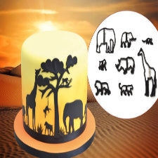 Wild life safari animal theme silhouette cutter set
