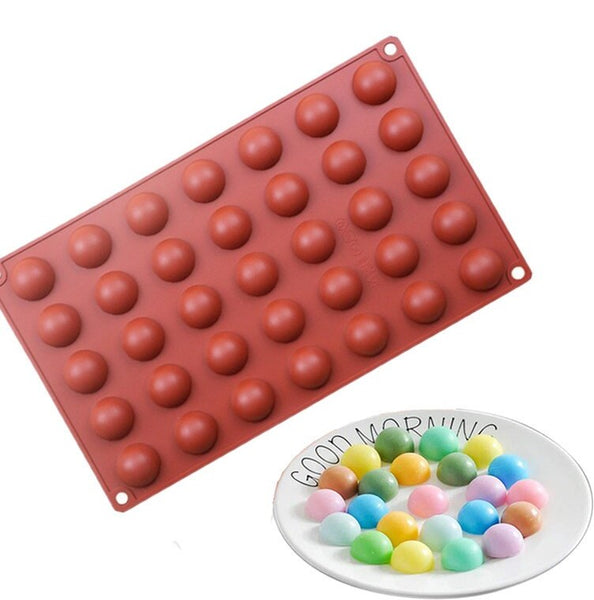 Extra extra small Silicone mould tray sphere 35cup, mousse pudding