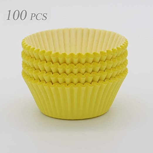 100 piece Yellow Cupcake holders wrappers