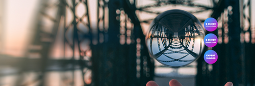 lensball in arch