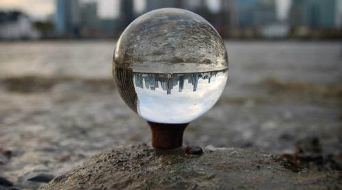 lensball wood stand