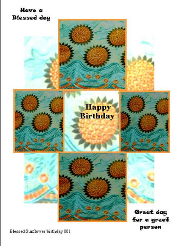 Blessed Sunflower Birthday