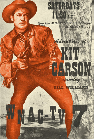 Adventures of Kit Carson TV guide ad 1950's