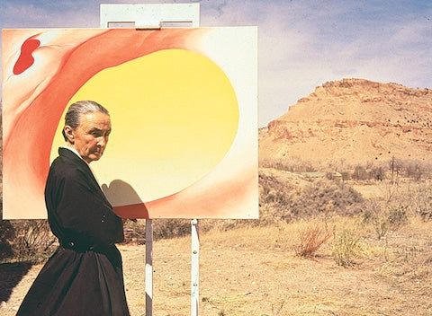 Artist Georgia O'Keeffe at her New Mexico home