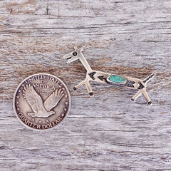 Silver & Turquoise Fred Harvey Dog Pin