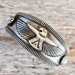 Thunderbird Cuff by Delbert Gordon