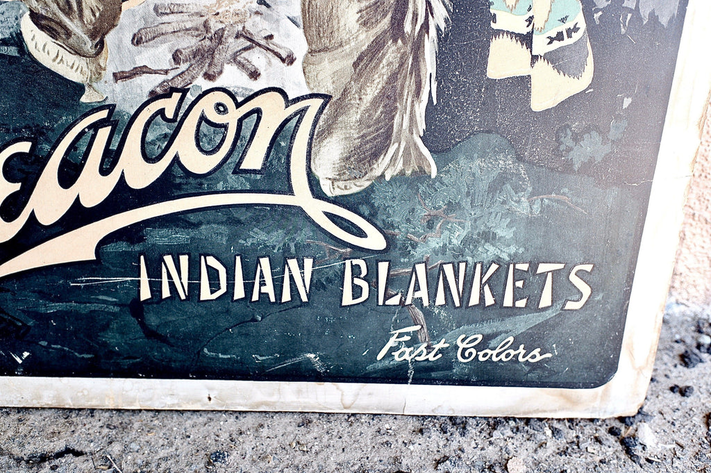 Beacon Blanket Vintage Ad Poster