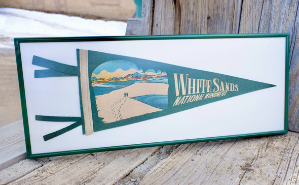 Vintage White Sands Monument New Mexico Pennant Framed