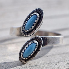 Vintage Wrap Ring Adjustable from Maisel's Turquoise & Sterling