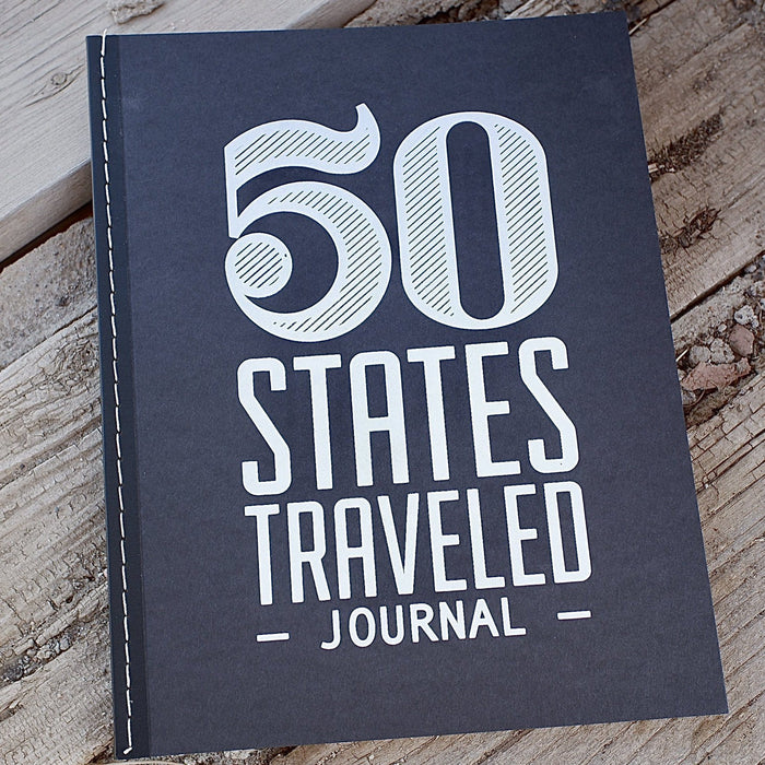 50 States Traveled Journal Notebook