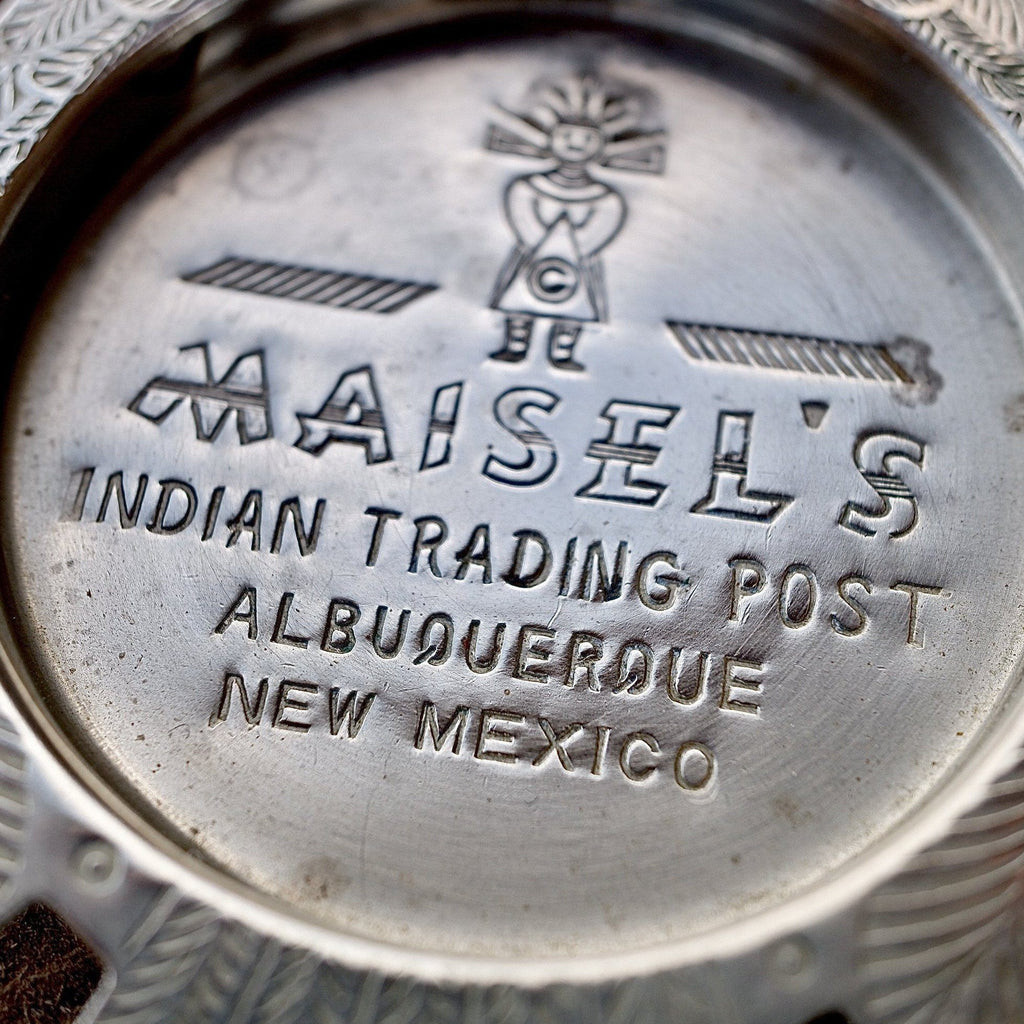 Vintage Maisel's Indian Trading Post Thunderbird Steel Trinket Tray