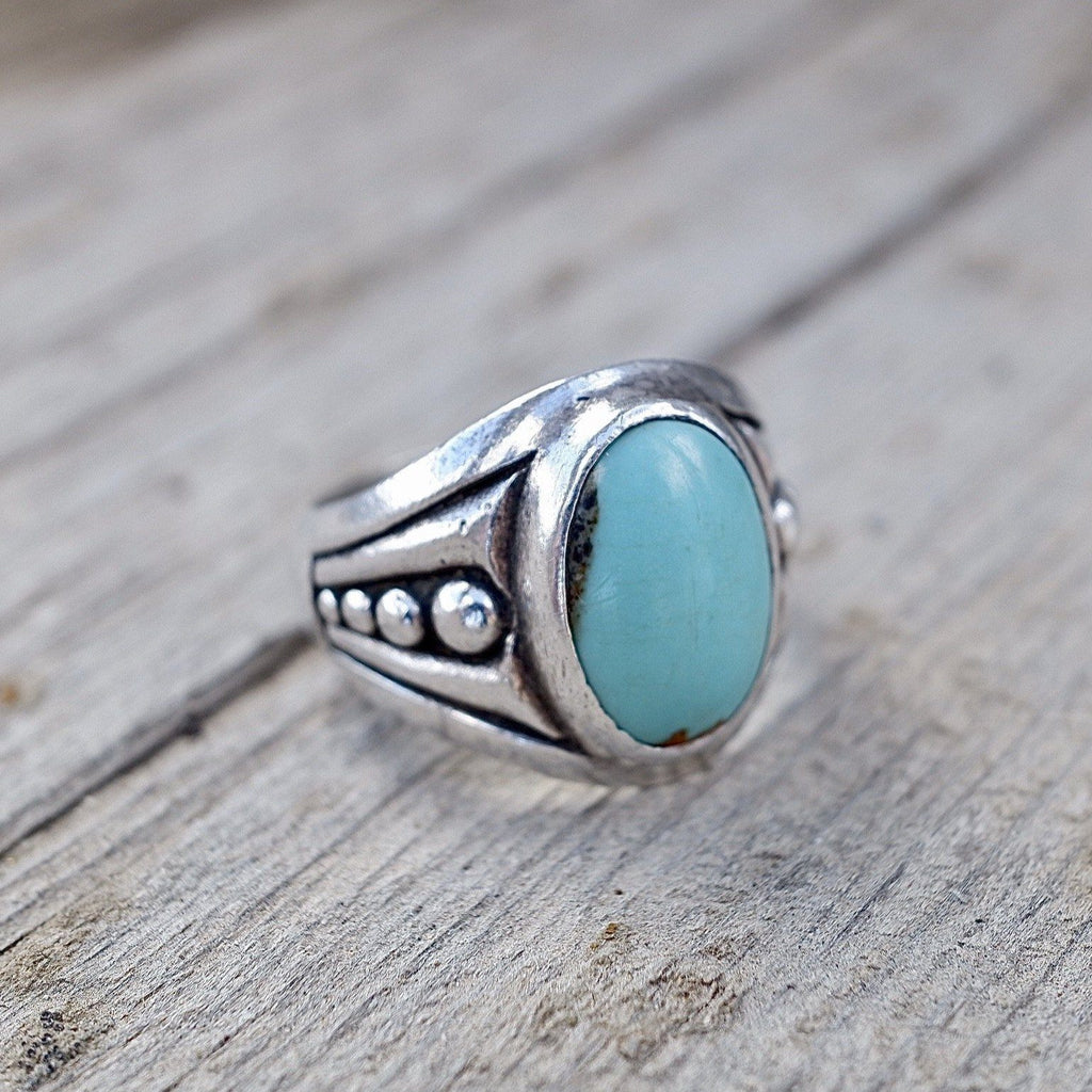 Mens Navajo Turquoise Ring Size 9.5