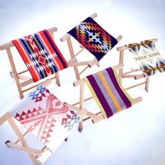 Pendleton southwest blanket stool handmade oak wood