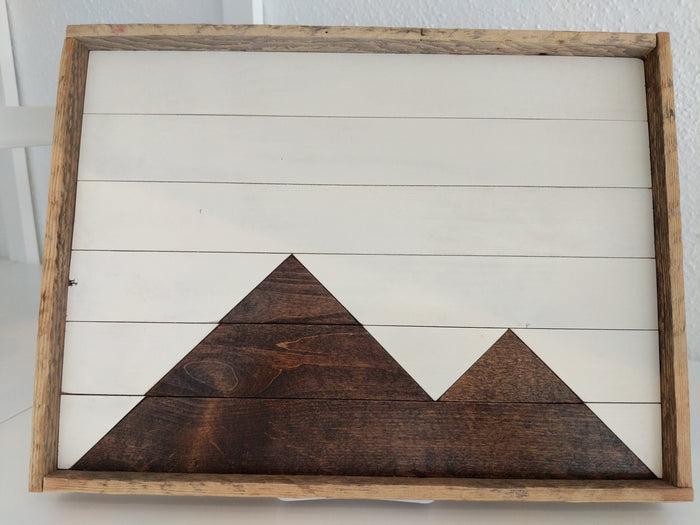 Reclaimed Wood Serving Tray, Stain Mountains