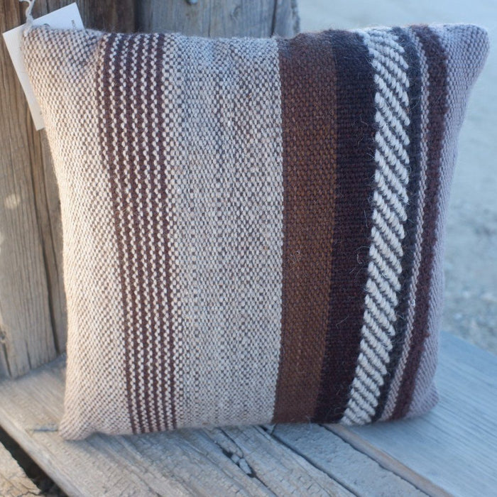Handwoven Wool Pillow 14""