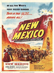 Original New Mexico Movie Poster 1951 One-Sheet