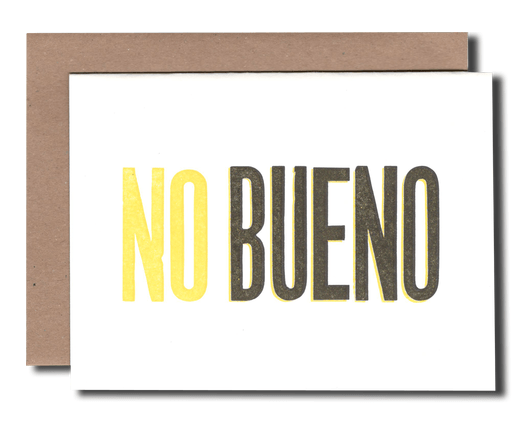 No Bueno greeting card