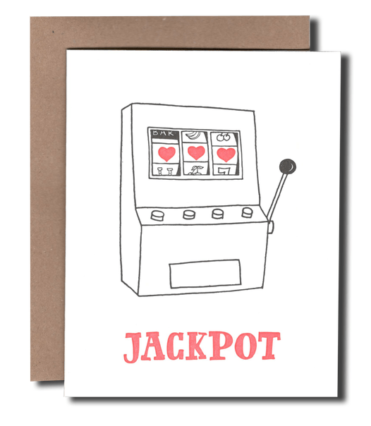 Jackpot Hearts Greeting Card