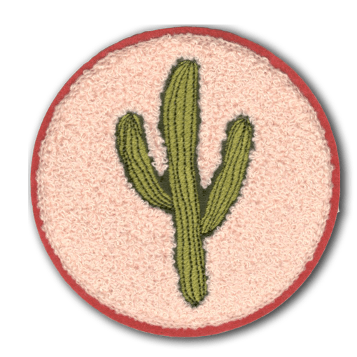 Embroidered Saguaro Cactus Fuzzy Patch