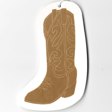 Cowboy boot air freshener coffee scent
