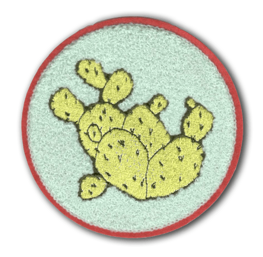 Embroidered Prickly Pear Cactus Patch