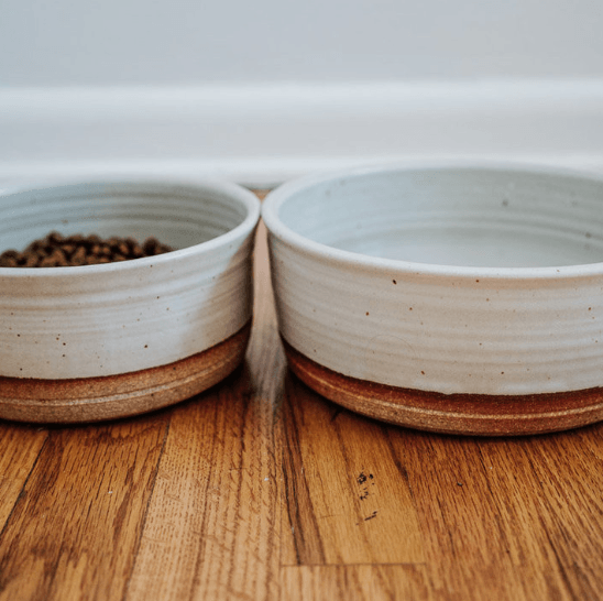 Dog Food and water Bowls Stoneware Handmade