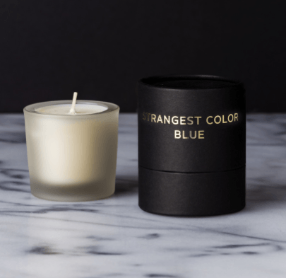 Strangest Color Blue Candle