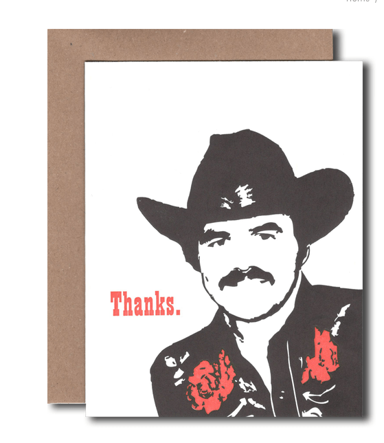 Thanks Burt Greeting Card