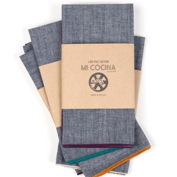 Chambray Merrow Edge Napkins
