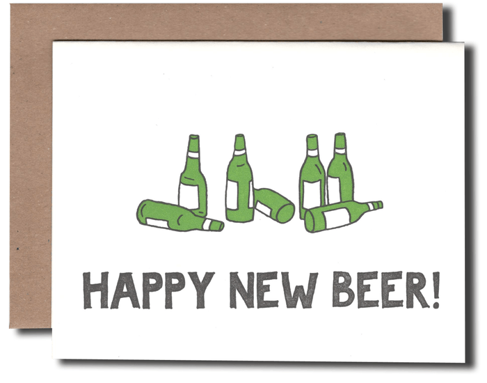 Happy New Beer Card