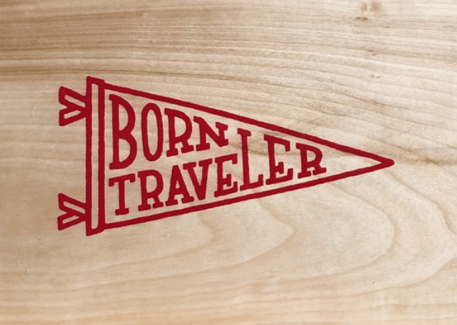 Born Traveler Block Print