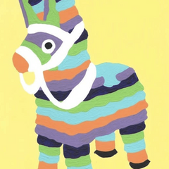 Burro Piñata Paint by Number Kit