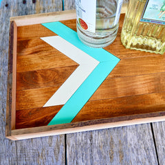 Southwest Serving Tray Turquoise & White