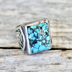 Spiderweb Turquoise Ring  Native American