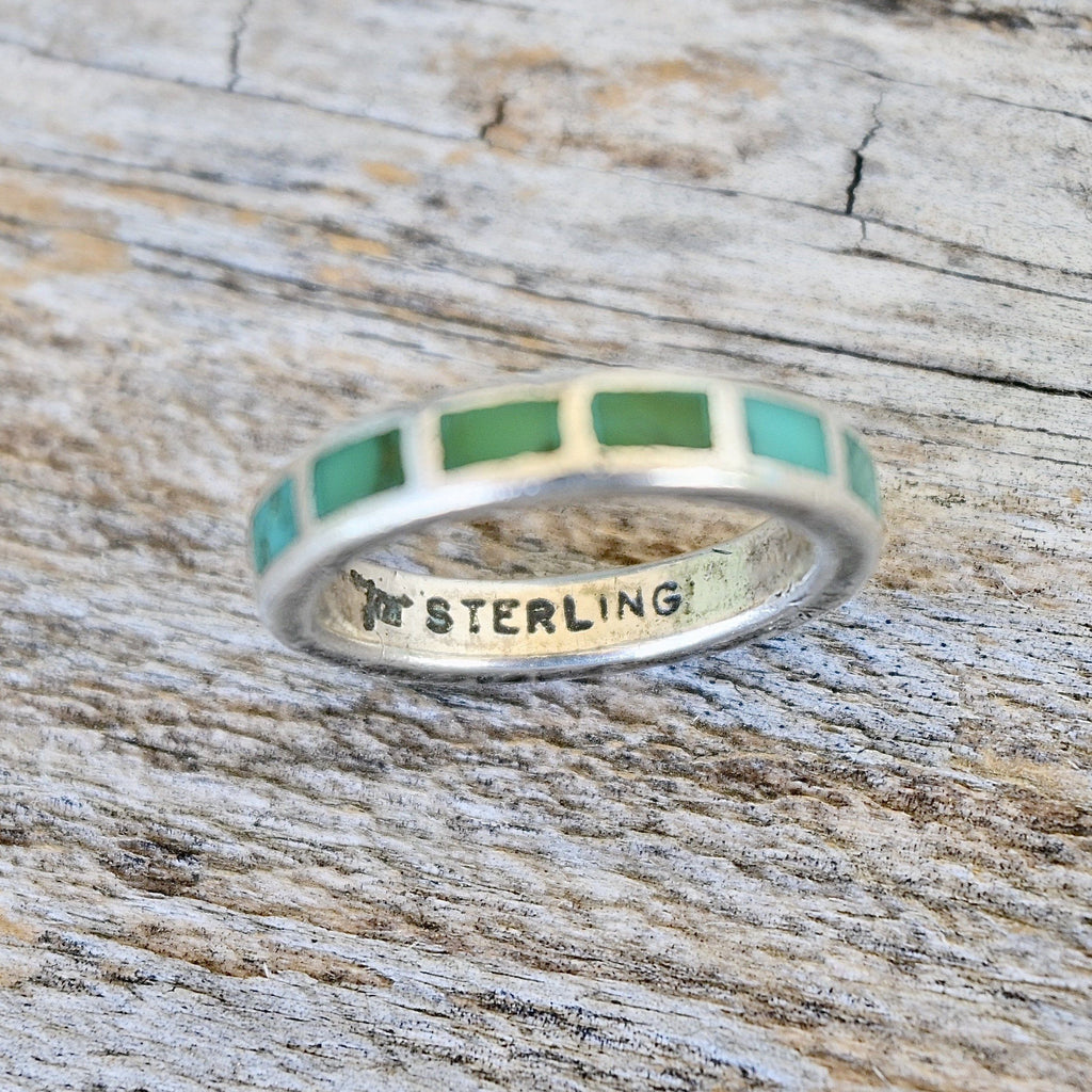 Tribal Turquoise Ring Vintage Southwest Jewelry